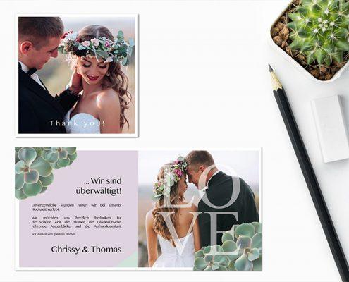 Danke Karten zur Hochzeit